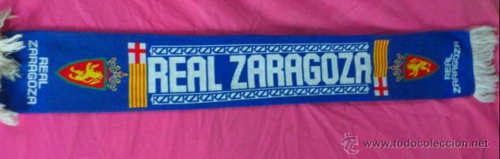 BUFANDA FUTBOL REAL ZARAGOZA (Coleccionismo Deportivo - Merchandising y Mascotas - Futbol)