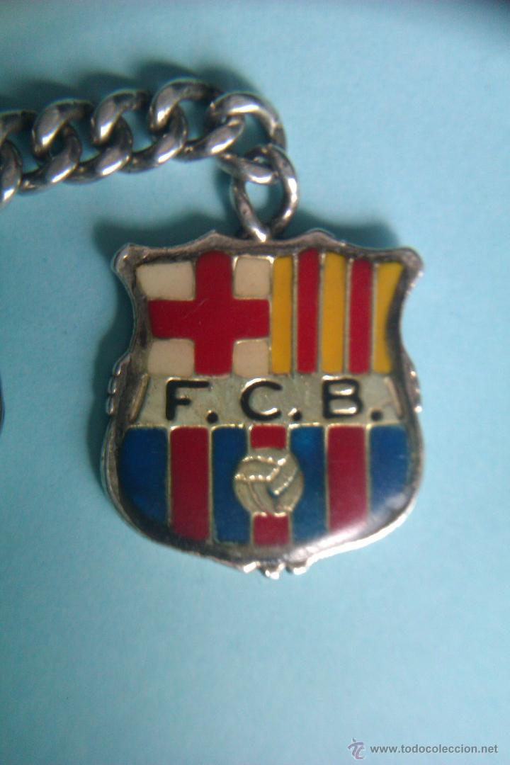 bc518b565bc37 ANTIGUO LLAVERO ESCUDO FC BARCELONA EN PLATA - BIEN CONSERVADO -  (Coleccionismo Deportivo - Merchandising