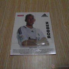 Coleccionismo deportivo: FICHA MARCA ROBBEN PUBLICIDAD ADIDAS. Lote 42735741