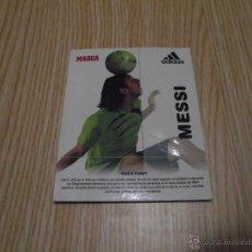 Coleccionismo deportivo: FICHA MARCA MESSI PUBLICIDAD ADIDAS. Lote 42735874
