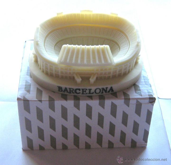 MAQUETA RESINA ESTADIO CAMP NOU FC BARCELONA GRAN CALIDAD: 11 X 9 X 3 CM OFICIAL (Coleccionismo Deportivo - Merchandising y Mascotas - Futbol)