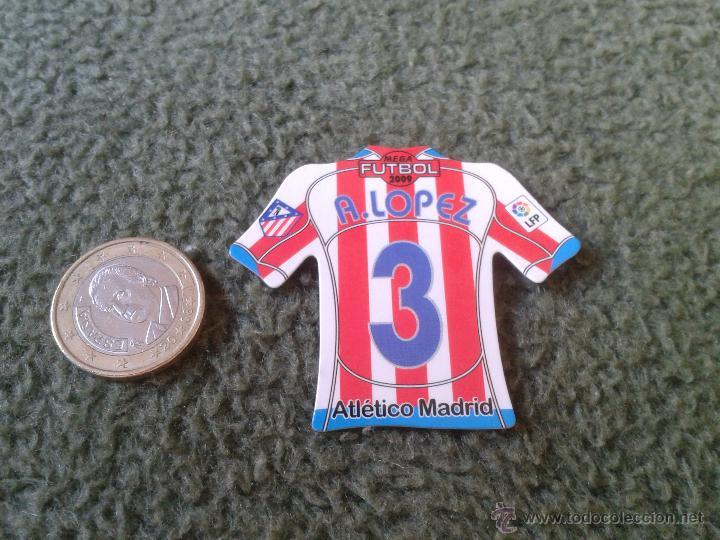 CROMO DE FUTBOL MAGNETS MAGNET MEGA LIGA BBVA 2008 2009 CAMISETAS IMAN ANTONIO LOPEZ ATLETICO MADRID (Coleccionismo Deportivo - Merchandising y Mascotas - Futbol)