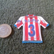 Coleccionismo deportivo: CROMO DE FUTBOL MAGNETS MAGNET MEGA LIGA BBVA 2008 2009 CAMISETAS IMAN ANTONIO LOPEZ ATLETICO MADRID. Lote 43186252