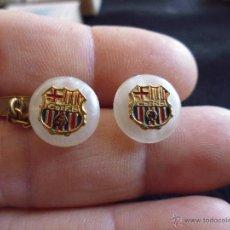 Coleccionismo deportivo: ANTIGUOS GEMELOS ANACARADOS DEL FUTBOL CLUB FC BARCELONA F.C BARÇA CF AÑOS 50. Lote 43451800