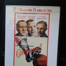 Coleccionismo deportivo: DVD 75 AÑOS DE LIGA FÚTBOL CAMPEONES RICARDO ZAMORA PORTERO BARÇA RCD ESPANYOL REAL MADRID C.F. Lote 44047020