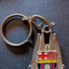 Coleccionismo deportivo: LLAVERO FC BARCELONA SAGRADA FAMILIA AÑOS 80 FUTBOL. Lote 44338485