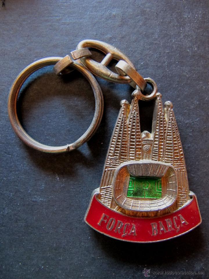 Coleccionismo deportivo: Llavero FC Barcelona Sagrada familia años 80 futbol - Foto 2 - 44338485