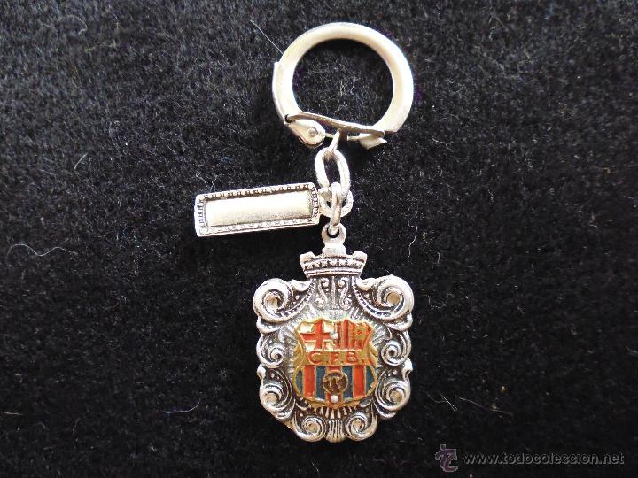 antiguo llavero del futbol club fc barcelona f.c barça cf muy raro y dificil  siglas C.F.B 7585c0a6f8c