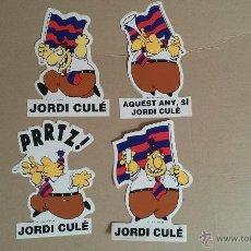 Collezionismo sportivo: LOTE PEGATNAS JORDI CULE FUTBOL CLUB BARCELONA OSCAR PEGATNA. Lote 45338530