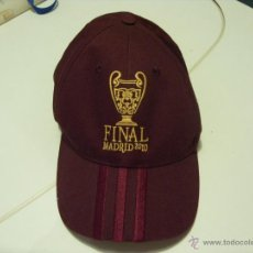 Coleccionismo deportivo: GORRA FINAL CHAMPIONS LEAGUE MADRID 2010. Lote 45452825