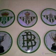 Coleccionismo deportivo: REAL BETIS BALOMPIE LOTE DE POSAVASOS . Lote 45463920