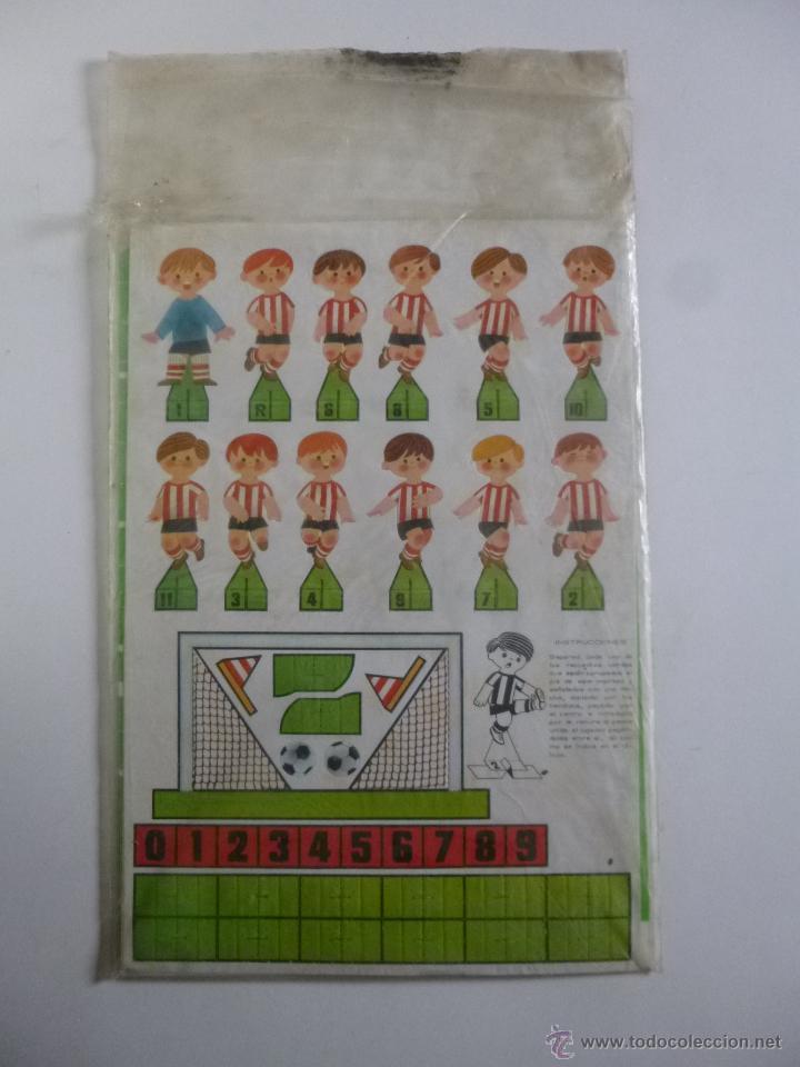 JUEGO DE FUTBOL DADO GOL CONTIENE 2 EQUIPOS ATLETIC BILBAO REAL SOCIEDAD RUIZ ROMERO ED 1980 (Coleccionismo Deportivo - Merchandising y Mascotas - Futbol)