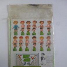Coleccionismo deportivo: JUEGO DE FUTBOL DADO GOL CONTIENE 2 EQUIPOS ATLETIC BILBAO REAL SOCIEDAD RUIZ ROMERO ED 1980. Lote 45912911