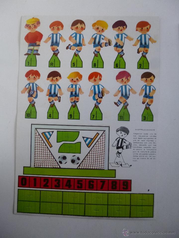 Coleccionismo deportivo: JUEGO DE FUTBOL DADO GOL CONTIENE 2 EQUIPOS ATLETIC BILBAO REAL SOCIEDAD RUIZ ROMERO ED 1980 - Foto 2 - 45912911