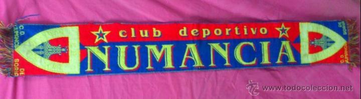 BUFANDA FUTBOL CLUB DEPORTIVO NUMANCIA DE SORIA (Coleccionismo Deportivo - Merchandising y Mascotas - Futbol)