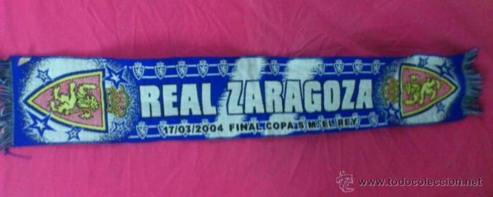 BUFANDA FUTBOL ORIGINAL REAL ZARAGOZA (Coleccionismo Deportivo - Merchandising y Mascotas - Futbol)