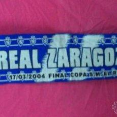 Coleccionismo deportivo: BUFANDA FUTBOL ORIGINAL REAL ZARAGOZA. Lote 110209012