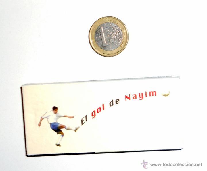 CINE DE MANO.FUTBOL EL GOL DE NAYIM. REAL ZARAGOZA 75 ANIVERSARIO. RECOPA EUROPA PARIS 1995 (Coleccionismo Deportivo - Merchandising y Mascotas - Futbol)