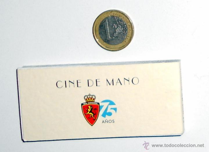 Coleccionismo deportivo: CINE de MANO.FUTBOL EL GOL DE NAYIM. REAL ZARAGOZA 75 ANIVERSARIO. RECOPA EUROPA PARIS 1995 - Foto 2 - 46581243