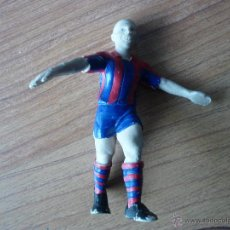 Coleccionismo deportivo: FIGURA MUÑECO DE GOMA PVC 11 CMS. Nº 9 RONALDO NAZARIO (FC BARCELONA) - LIGA BARÇA. Lote 46834645