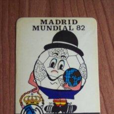 Coleccionismo deportivo: ADHESIVO MUNDIAL'82 (R. MADRID) NARANJITO. Lote 46871430