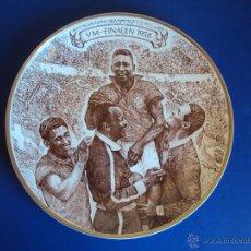 Coleccionismo deportivo: (F-1251)PLATO CONMEMORATIVO DE LOS 25 AÑOS DEL CAMPEONATO DE 1958,SUECIA,2-BRASIL,5 (O REY PELE). Lote 46892066