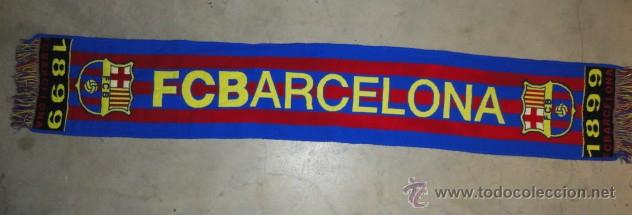 BUFANDA FUTBOL CLUB BARCELONA BARCA CENTENARIO 1899 1999 (Coleccionismo  Deportivo - Merchandising y Mascotas - b2e2be242f5