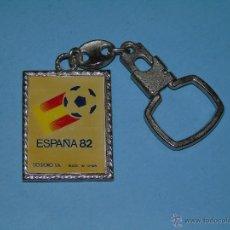 Coleccionismo deportivo: LLAVERO DEPORTES. FÚTBOL. MUNDIAL ESPAÑA 82 1982 NARANJITO. Lote 47842947