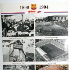 Coleccionismo deportivo: CARPETA DESPLEGABLE MAQUETA DEL CAMP NOU CENTENARIO FC BARCELONA FUTBOL FOOTBALL. Lote 48290127