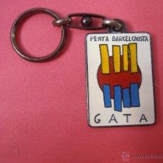 Coleccionismo deportivo: LLAVERO DE LA PEÑA BARCELONISTA GATA. Lote 48316754