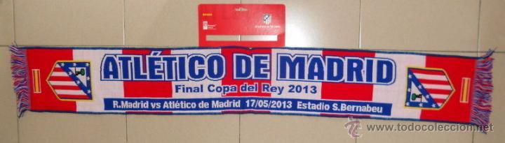 BUFANDA SCARF FUTBOL ATLETICO DE MADRID - REAL MADRID FINAL COPA DEL REY 2013 (Coleccionismo Deportivo - Merchandising y Mascotas - Futbol)
