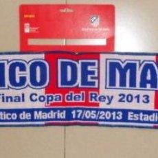 Coleccionismo deportivo: BUFANDA SCARF FUTBOL ATLETICO DE MADRID - REAL MADRID FINAL COPA DEL REY 2013. Lote 48458226