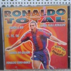 Coleccionismo deportivo: CD NUEVO SIN PRECINTAR PRODUCTO OFICIAL BARÇA FÚTBOL CLUB BARELONA RONALDO TOTAL REGINA DO SANTOS. Lote 48577585