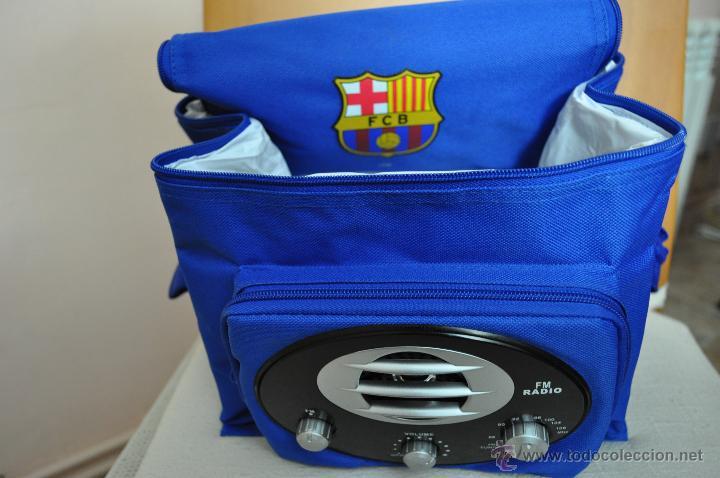 Coleccionismo deportivo: NEVERA PORTATIL CON RADIO FM DEL FC. BARCELONA - Foto 2 - 48747329