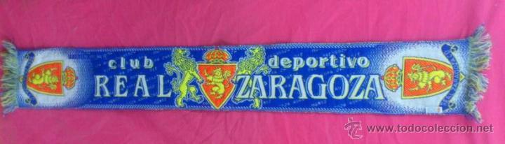 BUFANDA FUTBOL CLUB DEPORTIVO REAL ZARAGOZA OFICIAL (Coleccionismo Deportivo - Merchandising y Mascotas - Futbol)