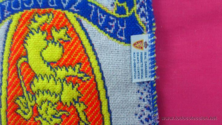 Coleccionismo deportivo: BUFANDA FUTBOL CLUB DEPORTIVO REAL ZARAGOZA OFICIAL - Foto 2 - 84724332