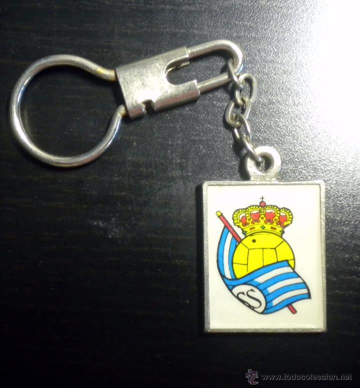 LLAVERO FUTBOL KEYRING FOOTBALL REAL SOCIEDAD SAN SEBASTIAN (Coleccionismo Deportivo - Merchandising y Mascotas - Futbol)
