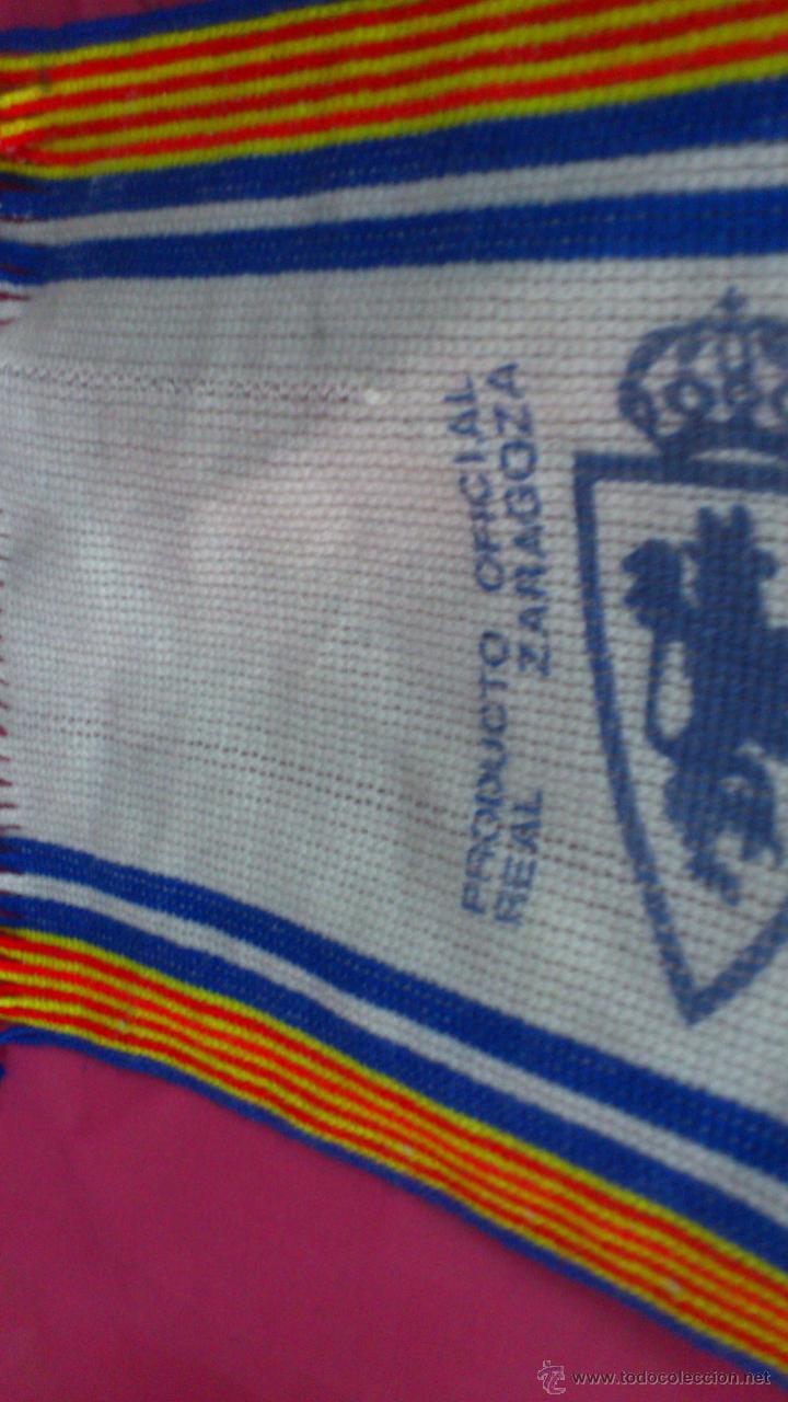 Coleccionismo deportivo: BUFANDA SCARF FUTBOL REAL ZARAGOZA - Foto 2 - 49545640