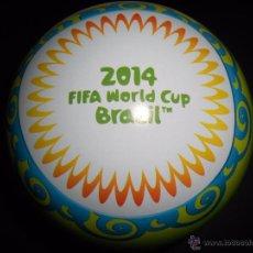 Coleccionismo deportivo: NORDIC EDITION BALON CAJA METALICA DE CROMOS VACIA ADRENALYN XL BRAZIL 2014 FIFA WORLD CUP BRASIL 14. Lote 99440318