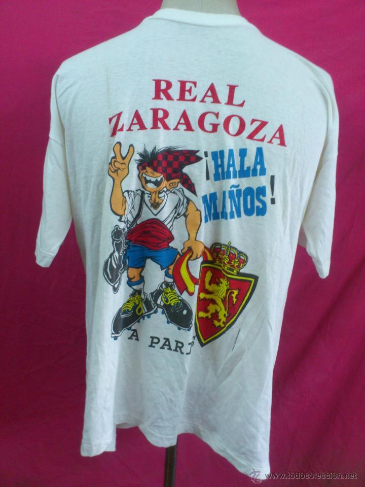 CAMISETA REAL ZARAGOZA CONMEMORATIVA 10-5-95 RECOPA DE EUROPA. PARIS. (Coleccionismo Deportivo - Merchandising y Mascotas - Futbol)