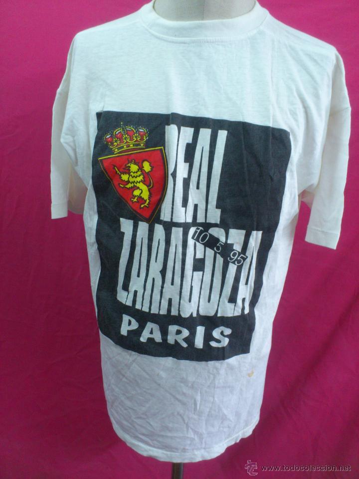 Coleccionismo deportivo: CAMISETA REAL ZARAGOZA CONMEMORATIVA 10-5-95 RECOPA DE EUROPA. PARIS. - Foto 4 - 27710536