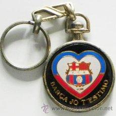 Coleccionismo deportivo: LLAVERO FÚTBOL CLUB BARCELONA - ESCUDO Y CORAZÓN - DEPORTE - FCB FC - MÁS COSAS DEL BARÇA EN VENTA. Lote 50163064