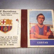 Coleccionismo deportivo: CAJA CERILLAS COSTAS JUGADOR DEL FUTBOL CLUB FC BARCELONA F.C BARÇA CF SIGLAS C.F.B. Lote 50485114