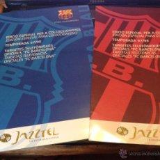 Coleccionismo deportivo: COLECCION JUGADORES DEL FUTBOL CLUB FC BARCELONA F.C BARÇA CF EN TARGETAS TELEFONICAS 97-98 UNICA. Lote 50485387