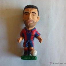 Coleccionismo deportivo: MUÑECO PVC GOMA (TAMAÑO 9 CM. APROX. ALTURA) GUARDIOLA FC BARCELONA TEMPORADA 1996 1997. Lote 50578694