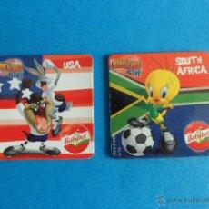 Coleccionismo deportivo: IMANES BABYBEL - LOONEY TUNES - MUNDIAL DE FÚTBOL 2010 - USA Y SOUTH AFRICA - PIOLÍN, BUGS BUNNY. Lote 50655012