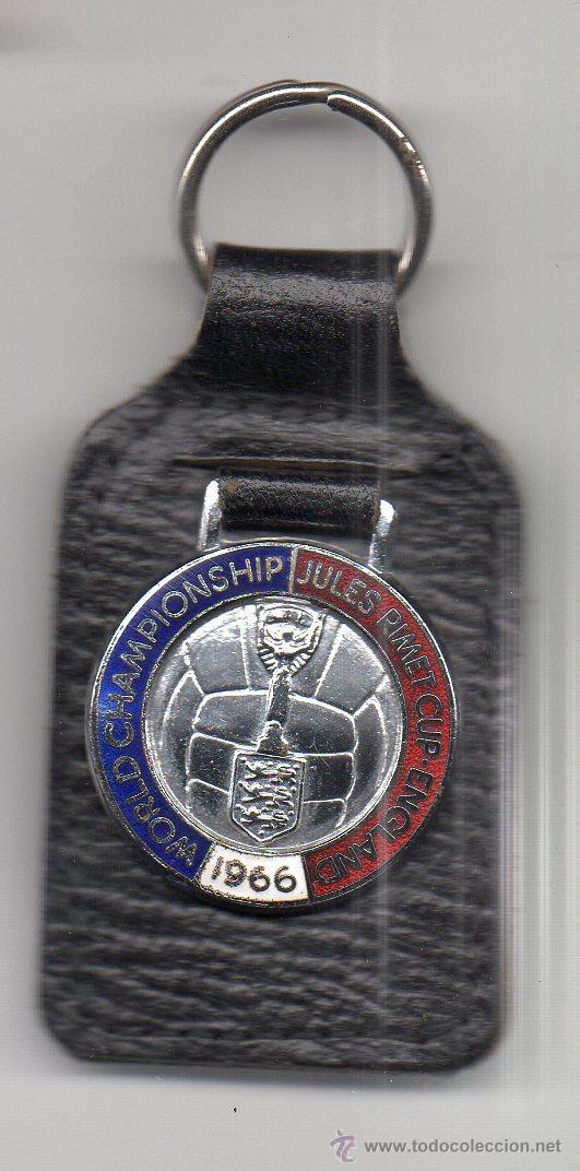 (A215) LLAVERO OFICIAL - WORLD CHAMPIONSHIP JULES RIMET CUP - ENGLAND 1966 , 8 CM (Coleccionismo Deportivo - Merchandising y Mascotas - Futbol)