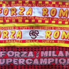 Coleccionismo deportivo: BUFANDAS Y BANDERA FUTBOL ITALIANO - ITALIA AÑOS 80 Y 90 ROMA, INTER, MILÁN. Lote 50771675