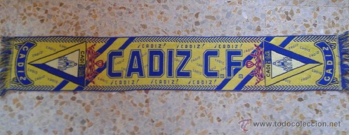 BUFANDA SCARF CADIZ C.F. HINCHAS ULTRAS SUPPORTERS ED-8 (Coleccionismo Deportivo - Merchandising y Mascotas - Futbol)