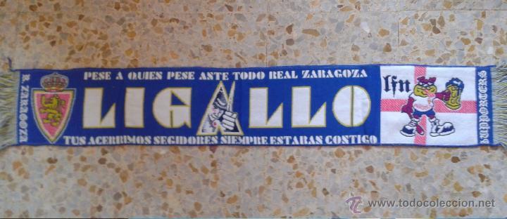 BUFANDA SCARF LIGALLO FONDO NORTE REAL ZARAGOZA HINCHAS ULTRAS SUPPORTERS!!! ED-33 (Coleccionismo Deportivo - Merchandising y Mascotas - Futbol)